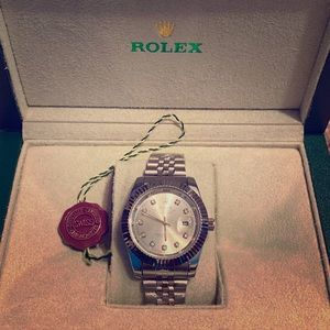 Mens rolex watch and box